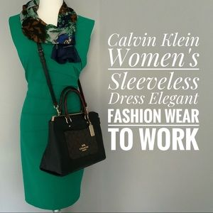 Calvin Klein Women's Sleeveless Round Neck Dress